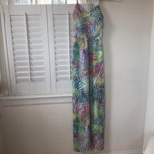 Parker XS maxi dress in bright tropical print